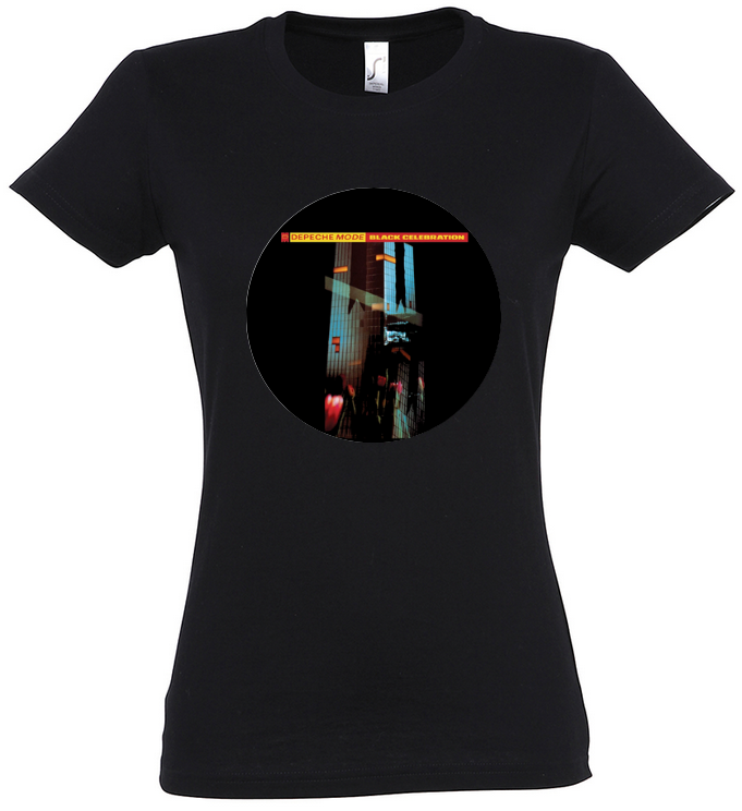 """tshirt à l'image du 5ème album de depeche mode """"black"""