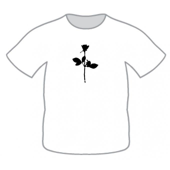 T-Shirt: Enjoy the silence (la rose)