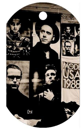 Depeche Mode: Collier plaque 101