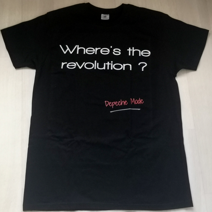 T-shirt Where's The Revolution ? (Homme)